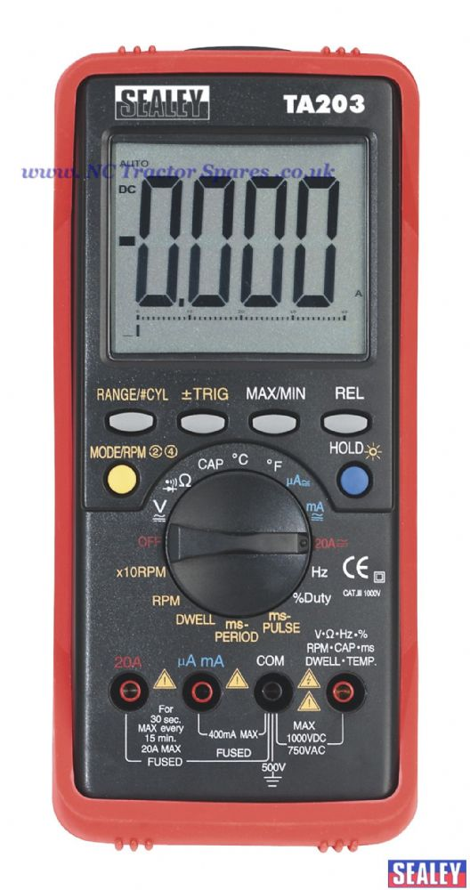 Automotive Digital Multimeter 15 Function Bar Graph/PC Link